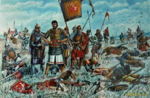 князь суздальский с Тохтамышем