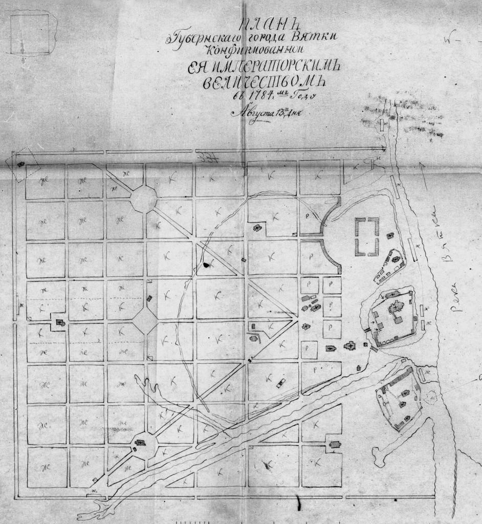 План 1784 года